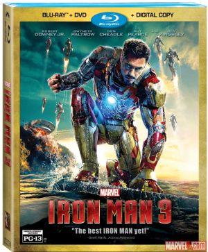 Iron Man 3 - Blu-ray cover art