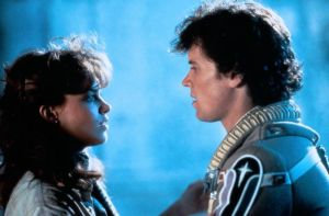 Catherine Mary Stewart and Lance Guest star in 'The Last Starfighter'.