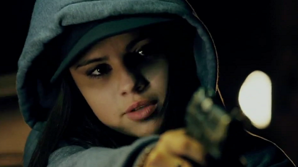 Selena Gomez takes aim in 'Getaway'.