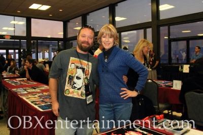OBXentertainment.com Editor in Chief Matt Artz with the original 'Friday the 13th' survivor Adrienne King in Virginia Beach. (photo: OBXentertainment.com)