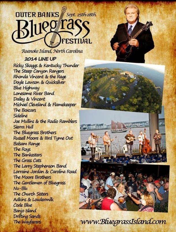 Outer Banks Bluegrass Festival 2014 Concert Lineup