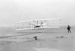 The Wright Brothers' first flight on December 17, 1903 in Kill Devil Hills, North Carolina.