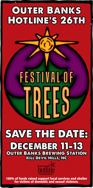 Outer Banks Christmas Festival of Trees - December 10-13, 2014 at Outer Banks Brewing Station, Kill Devil Hills, NC