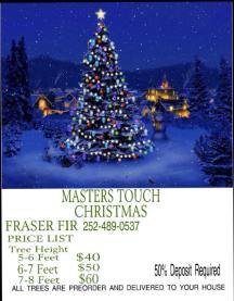 Masters Touch Christmas - live trees delivered to your house!