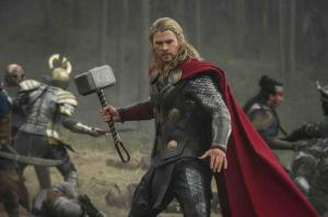 Chris Hemsworth is Thor in 'The Dark World'.