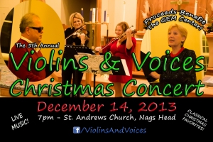 The 5th Annual Violins & Voices Charity Christmas Concert - December 14, Nags Head