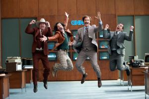 Ron Burgundy is back with his news team in 'Anchorman 2: The Legend Continues'.