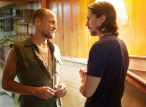 Woody Harrelson and Christian Bale face off in 'Out of the Furnace'.