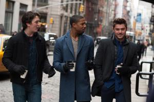 Miles Teller, Michael B. Jordan, and Zac Efron experience 'That Awkward Moment'.