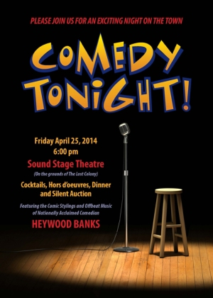 'Comedy Tonight!' will be a hilarious fundraiser for 'The Lost Colony', on April 25 at Waterside Theatre.