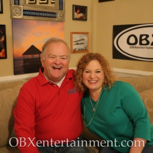 Mike Kelly and Sue Artz on the set of OBX Entertainment's original web series 'OBXE TV' on March 8, 2014.
