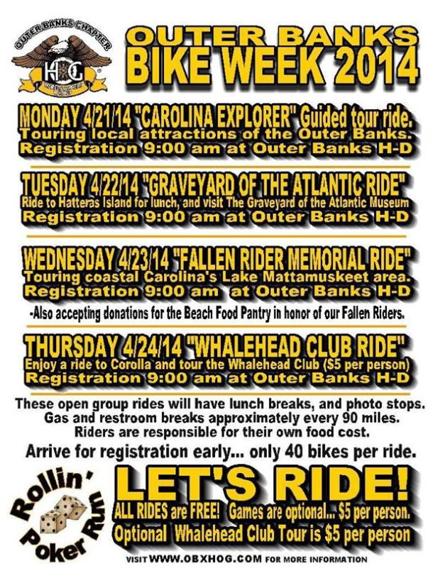 Outer Banks Bike Week 2014 Poker Run