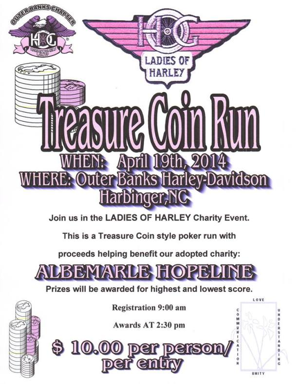Outer Banks Bike Week 2014 Treasure Coin Run