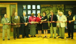 The Roanoke Island Festival Park Adventure Museum ribbon cutting ceremony on April 10, 2014.