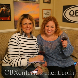 Stacey Walters and Sue Artz on the set of OBX Entertainment's Outer Banks web series 'OBXE TV' on March 27, 2014. (photo: OBX Entertainment)