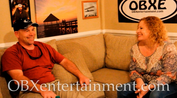 Tim Story and Sue Artz on the set of OBX Entertainment's Outer Banks web series 'OBXE TV' on April 3, 2014. (photo: OBX Entertainment)