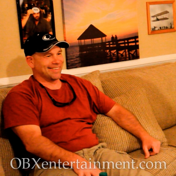 Capt. Tim Story of Outer Banks Fishing Charters, on the set of OBX Entertainment's Outer Banks web series 'OBXE TV' on April 3, 2014. (photo: OBX Entertainment)