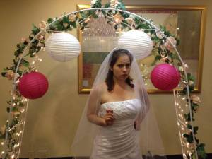 The OBX Mystery Dinner production of 'Murder at a Wedding' stars Anastasia Brunk.