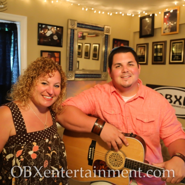 Sue Artz and Jonny Waters on the set of OBX Entertainment's web series 'OBXE TV' on May 16, 2014. (photo: OBXentertainment.com)