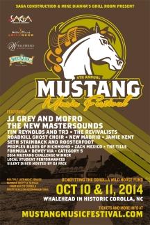 Mustang Music Festival 2014 poster