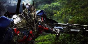 Optimus Prime is back in action in 'Transformers: Age of Extinction'.