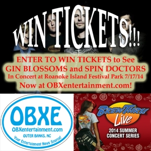 Brew Thru 2014 Summer Concert Series - Gin Blossoms Ticket Giveaway at OBXentertainment.com