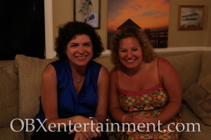 Roanoke Island Festival Park Executive Director Kim Sawyer with Sue Artz on the set of the OBX Entertainment web series 'OBXE TV' on July 23, 2014. (photo by OBXentertainment.com)