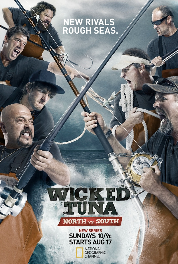 'Wicked Tuna: North vs. South', filmed on the Outer Banks, North Carolina - official poster