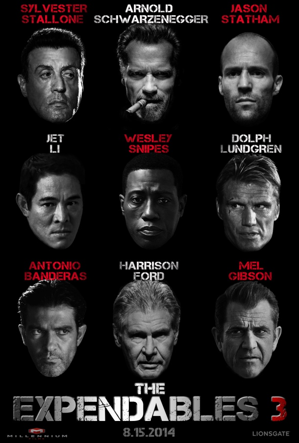 'The Expendables 3' movie poster
