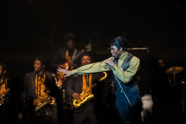 James Brown takes the stage in the biopic 'Get On Up'.