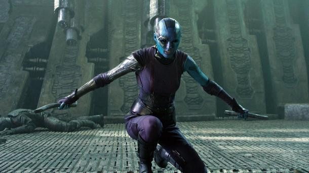 Karen Gillan is Nebula in 'Guardians Of The Galaxy'.
