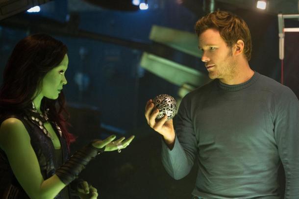 Zoe Saldana and Chris Pratt team up in 'Guardians of the Galaxy'.