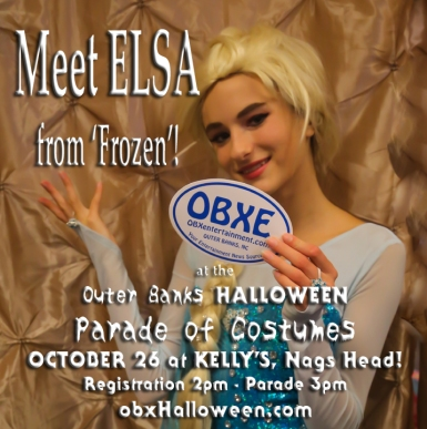Meet Elsa from 'Frozen' at the Outer Banks Halloween Parade of Costumes on Sunday, October 26, 2014 at Kelly's in Nags Head! (photo by Matt Artz for OBXentertainment.com)