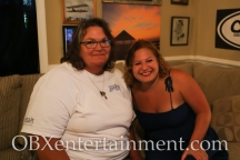 Sue Artz with Outer Bluegrass Festival spokesperson Debbie Evans on the set of the OBX Entertainmetn original series 'OBXE TV' on September 10, 2014. (photo by OBXentertainment.com)