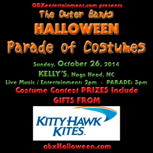 Kitty Hawk Kites donates costume contest prizes to OBXE Outer Banks Halloween Parade!