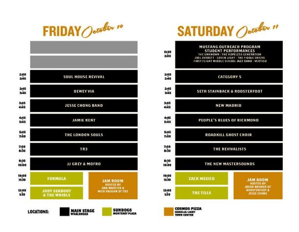 Mustang Music Festival 2014 schedule