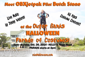 Meet OBXjetpak pilot Butch Stone at the Outer Banks Halloween Parade of Costumes - October, 26, 2014 at Kelly's in Nags Head, NC!