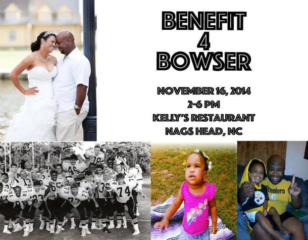 Ray Bowser benefit - Nov. 16 at Kelly's
