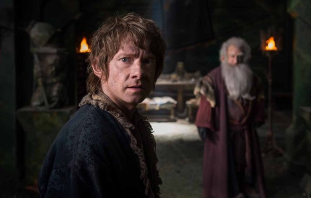 Martin Freeman is Bilbo Baggins in 'The Hobbit: The Battle of the Five Armies'.