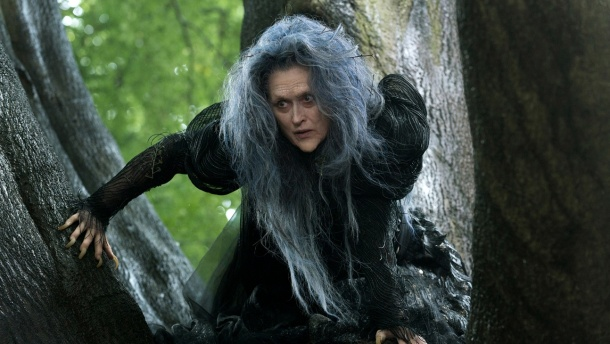 Meryl Streep gets witchy in the musical 'Into the Woods'.