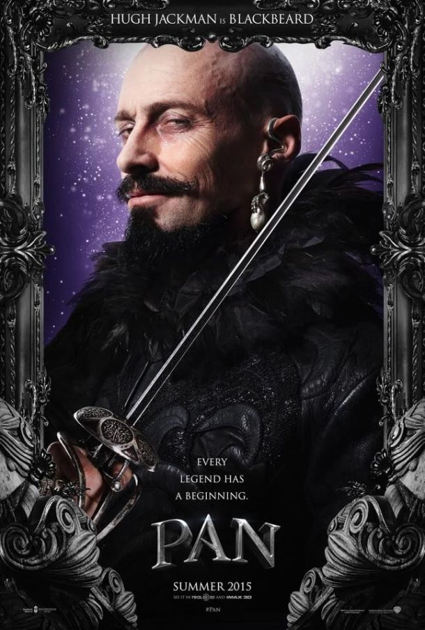 Hugh Jackman is Blackbeard in 'Pan'