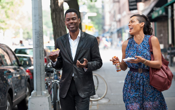 'Top Five' stars Chris Rock and Rosario Dawson.