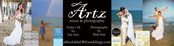 Artz Music & Photography - Outer Banks Wedding Violinist, DJ, and Photographer