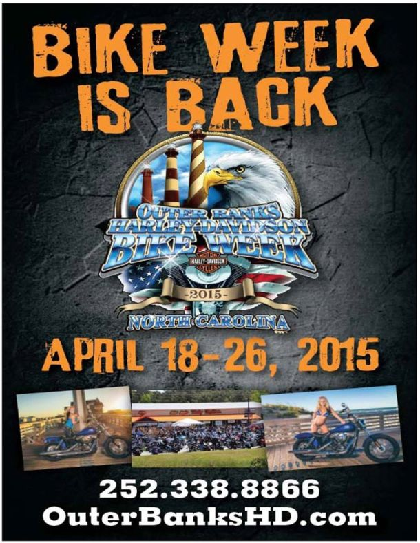 Outer Banks Bike Week 2015 poster