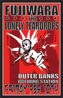 Friday the 13th concert at Outer Banks Brewing Station, featuring Fujiwara and The Lonely Teardrops