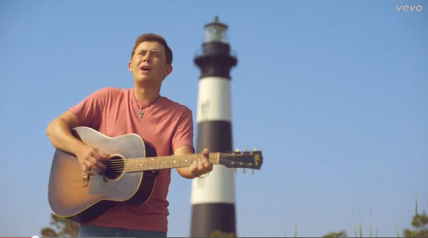 Scotty McCreery's video for 'Feelin' It' was filmed at the Bodie Island Lighhouse on the Outer Banks, North Carolina.
