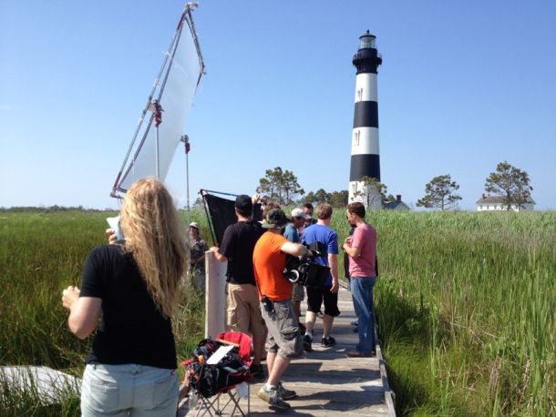 Scotty McCreery on the Outer Banks, North Carolina set of his 'Feelin' It' music video.