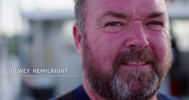 """Outer Banks fisherman Dewey Hemilright stars in Busch Beer's new video """"Celebrating Those Who Are Earning It""""."""