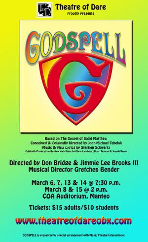 Theatre of Dare presents 'Godspell' in March 2015.