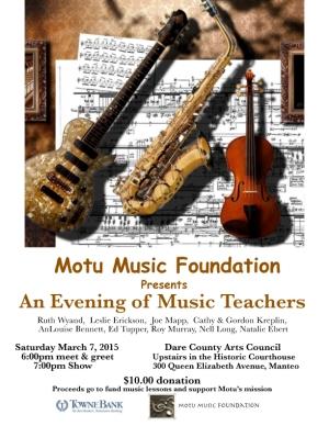 Motu Music Foundation Teachers Concert
